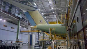 MSN36 or M54-03 undergoing manufacturing when Malaysian Defence visited the A400M FAL in late October, 2015