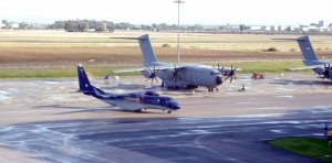An Airbus C295W undergoing tests at Airbus DS facility at Seville, Spain.