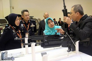 Colt APCs displayed at the show. PDRM picture.