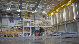 STA40 where the final integration of the joint fuselage, wings and vertical integration takes place.