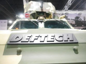 Deftech logo on the AV4.