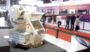SMASH 30mm gun at Aselsan stand. Contracted for the NGPC.