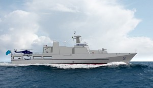 Another possible OPV design for the MMEA to consider. A CGI of the Lurssen 85 metre OPV