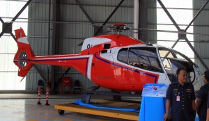 RMAF first EC120B. It will soon carry the M102-01 serial number.
