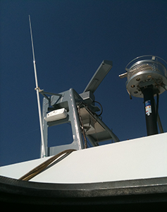 The Terma 6000 nav radar installed on the US Navy test ship. Stilleto. Picture credit US Navy.