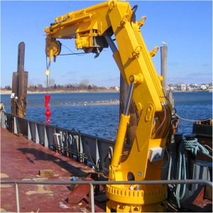 An example of a hydraulic knuckle boom crane.