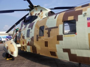 One of the digital camoed Nuri handed over to the Army at LIMA 15.