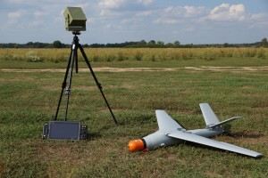 The Warmate drone and its controlling consoles.
