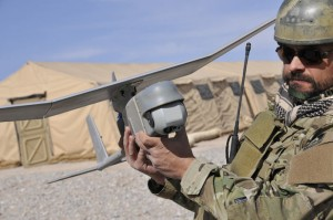 Raven UAV, a man-packable drone from AeroEnvironment.