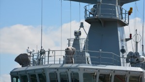 Chase Dynamics Sea Eagle FCEO mounted on one of the Samuel Beckett class OPV,