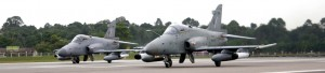 Hawk 208s fitted with LAU-51 rocket pods during trials for the FZ rockets last year. FZ