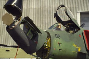The antenna of the APG-66NZ fitted on the RNZAF A-4 Skyhawks.