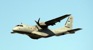 RMAF CN235-220M M44-07 during the fly past rehearsal on Feb 25.