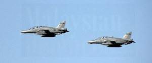 Two RMAF Mk 108s took part in the flypast rehearsal on Feb 25.