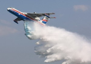 Beriev Be-200s multi-role amphibious aircraft. Beriev