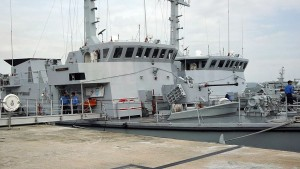 Two of the Mahameru class berthed at the Lumut naval base in January, 2014.