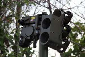 A close-up of the Starstreak LML controlling unit at the firing range.