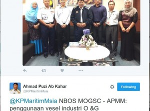A screenshot of the APMM chief tweet.