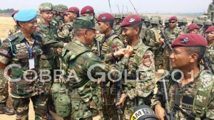 PAC soldiers at the recent Cobra Gold Exercise in Thailand, recently. Markas Angkatan Bersama picture.