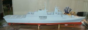 A model of the Gawron class. The project has been cancelled as the cost to arm the ship would add another USD320 million to the project. The hull only cost USD$100 million. Source Wikipedia. Picture by Pibwl (Own work) [CC BY-SA 3.0 (http://creativecommons.org/licenses/by-sa/3.0) or GFDL (http://www.gnu.org/copyleft/fdl.html)], via Wikimedia Commons