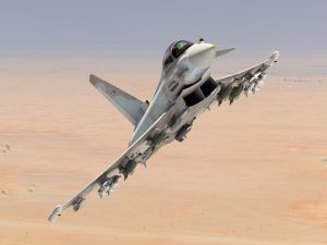 Eurofighter Typhoon in Kuwaiti Air Force colours. Finmeccanica.