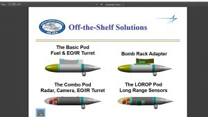 Lockheed Martin off the-shelf solutions for the Hercules podded capabilities.