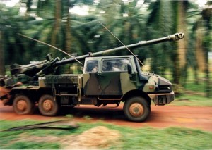 Nexter Systems Caesar during its demonstration in Malaysia in 1995.