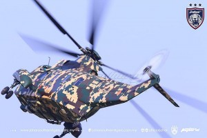 A digital camo Nuri of the PUTD at the opening ceremony of the Johor Military Force camp in Johor Bahru, last week. Johor Southern Tigers photo.