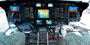 Rockwell Collins Pro-line cockpit install on a S-61.