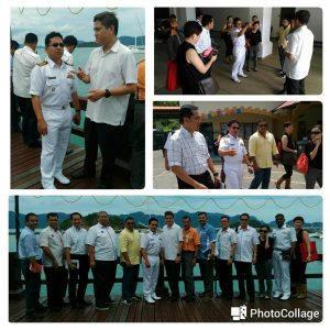 Defence ministry officials touring Porto Malai, the maritime venue of LIMA 17 last week. TLDM picture.