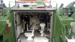 The inside of the ACV300 Command Control enabled for NCO.