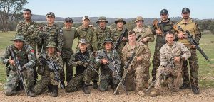 Some of the soldiers which took part in the sniper event at AASAM 2016. One of the Malaysian soldiers stand on the extreme left while his team mate is squatting second from the left. Australian Army - FB