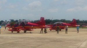 The two PC-7 MK II at KTU, Alor Setar upon arrival today (June 1) . TUDM picture.