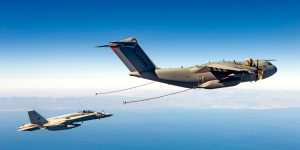 An A400M conducting refueling for an F/A-18. Airbus DS picture.
