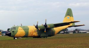 Botswana Defence Force C130B Hercules returning to the Airod hangar in Subang after an engine check. The aircraft has returned to Botswana last week after undergoing maintenance at Airod. The last time it came for maintenance at Airod was in 2008.