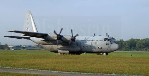 RMAF M30-09 C130H Hercules preparing for take-off for the 2016 Merdeka Flypast at Subang.