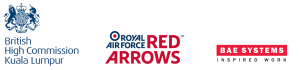 The British High Commission in Kuala Lumpur is hosting the Red Arrows with the cooperation of BAE Systems.