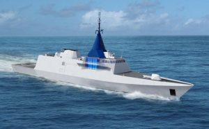 The location of the PSIM module as shown on the Egyptian Gowind. It will be the same location for the RMN's LCS. DCNS