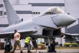 RAF Typhoon from 1(Fighter) Sqn taking part in Bersama Lima 16. Crown Copyright.