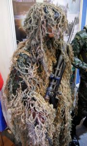 A PNP Special Forces sniper with a Savage bolt action rifle.