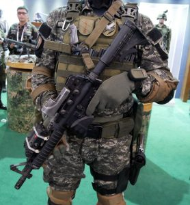 A Filipino Army Special Forces operator with a Colt M4A1 Carbine.