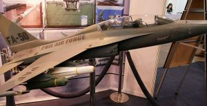PAF FA-50 model armed with mock-ups of the Maverick missiles, bomblet dispensers and Sidewinders.