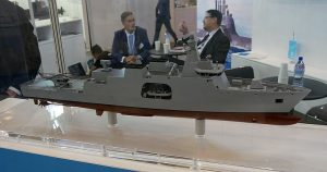 A model of the Meko Flex. An interesting design to look at as the RMN looks to build more of the Kedah-class.
