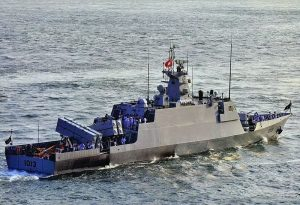 PNS Azmat, a China built missile boat. Wikipedia.