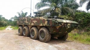 Gempita AVS, the signal variant. It is armed with the Reutech Rogue RWS fitted with a 12.7mm machine gun. The vehicle took part in Eks Satria Perkasa in October, 2016.