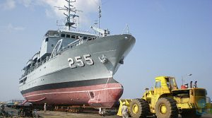 KD Mutiara while undergoing refit at the Labuan Shipyard and Engineering. LSE picture