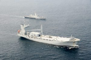 A file picture of Bunga Mas Lima when she was tasked with the anti-piracy operations of the Gulf of Aden.
