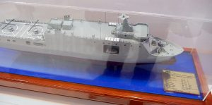 The model of the MRSS displayed at the PT PAL booth.