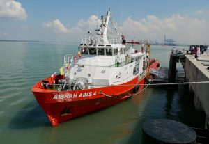 MV Aishah AIMS 4, the new hydrographic platform of the RMN.