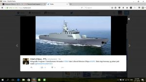 A screenshot of tweet by RMN chief which showed a CGI of the LMS.